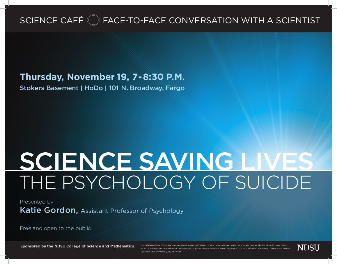 psychology of suicide Students may end up feeling overwhelmed and depressed in college learn how to recognize signs of depression and suicidal thoughts and where to get help.